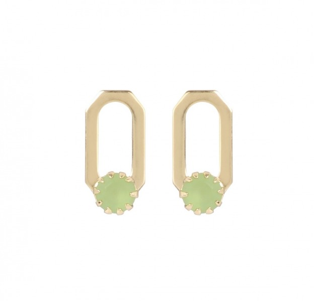 Boucles d'oreilles puce rectangle Gatsby
