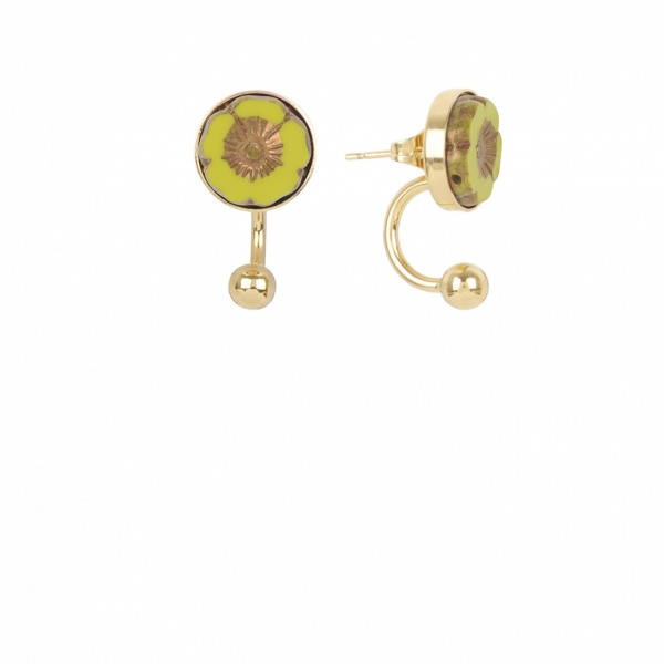 Boucles Earjacket Bloom Doré