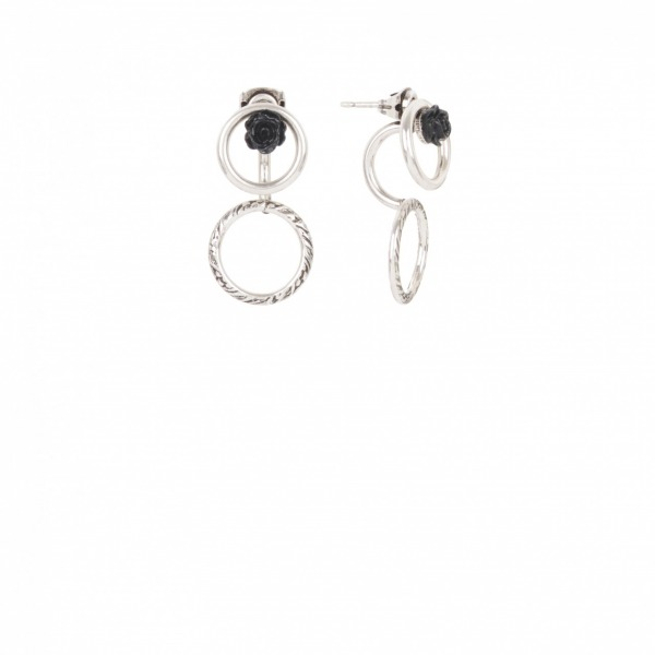 Boucles Earjacket Little Rose Argenté